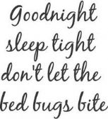Bed Bug Sheet
